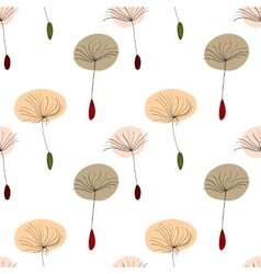 Dandelion seeds on white background vector image vector image