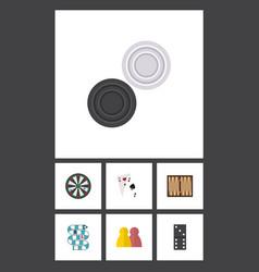 flat icon entertainment set of ace dice bones vector image