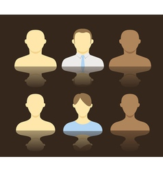 Collection of an account icons of men and women vector image
