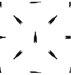 empty wine bottle pattern seamless black vector image vector image