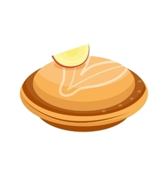 Homemade organic apple pie dessert vector