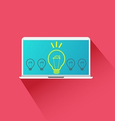 Idea Concept light bulb vector image vector image