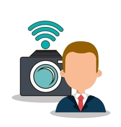 photographer with camera design vector image