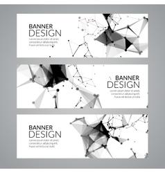 set geometric polygonal banners Technology vector image