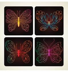 set of beauty butterflies vector image vector image