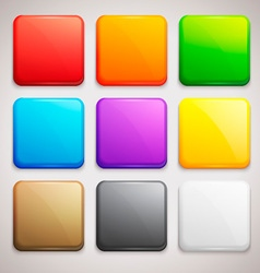 Set of Colorful Buttons Icons vector image vector image