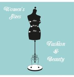 vintage tailors mannequin vector image