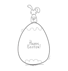 Happy easter cards Simple style vector image vector image
