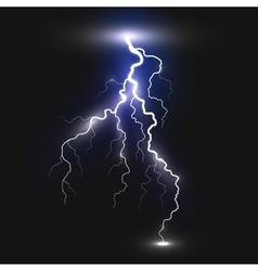 Realistic lightning sign vector image