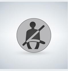 the seat belt warning icon safety belt car symbol vector image