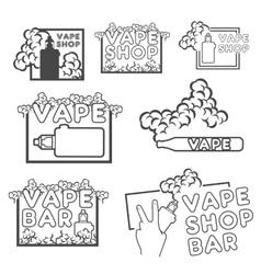 A set of electronic cigarette logos vector