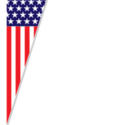 Abstract american flag frame corner vector