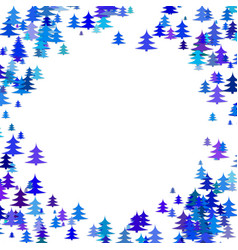 abstract random pine tree pattern round border vector image