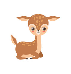 Adorable baby deer forest fawn animal vector