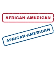 African-American Rubber Stamps vector image