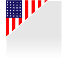 american flag corner border vector image