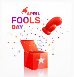April fools day composition vector