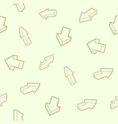 arrows outline isometric pattern vector image
