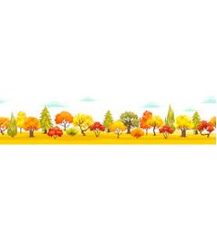 autumn park veiw vector image