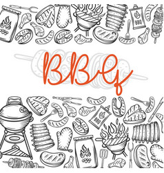 barbecue page layout vector image