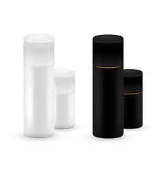 Black and white bottles aerosol spray metal vector