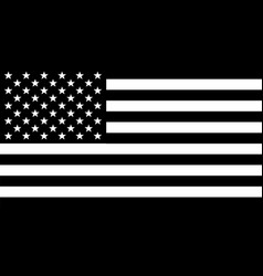 Black and white stars and stripes vector
