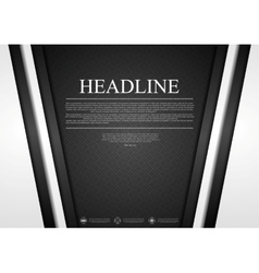 Black and white tech corporate background vector