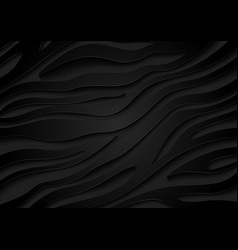 Black embossed zebra pattern with 3d effect vector