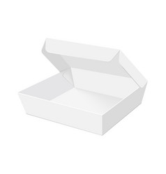 blank of box packing for takeout fast food vector image