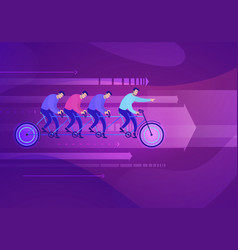 business concept of team who vector image
