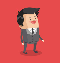 businessman smiling cartoon vector image