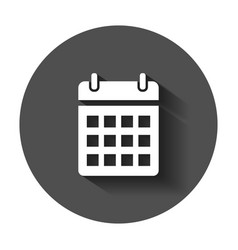 Calendar agenda icon in flat style reminder vector