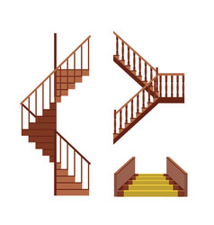 cartoon stairs set vector image