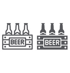 case beer line and glyph icon alcohol and vector image