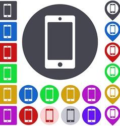 Color smartphone icon set vector
