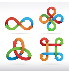 Colorful infinity symbol icons vector