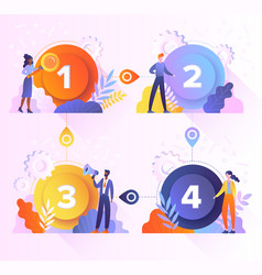 concept different options steps vector image