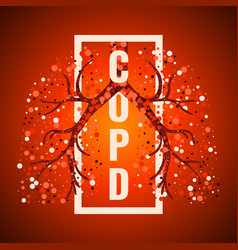 Copd day frame poster with lungs vector