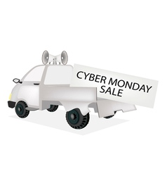 Cyber Monday Card on A Pickup Truck vector image