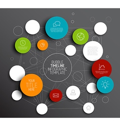 Dark abstract circles infographic template vector