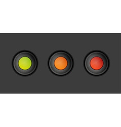 dark buttons with green orange and red color vector image