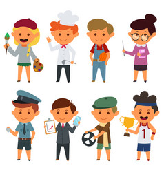 Different people with different jobs vector