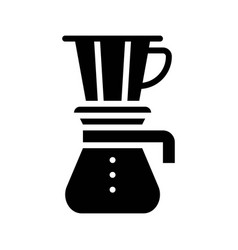 Drip coffee coffee related solid style vector