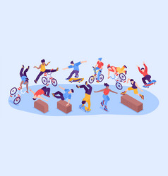 extreme street sport narrow vector image