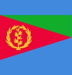 Flag eritrea vector