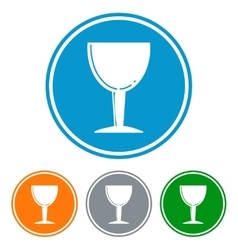 Flat chalice glass for beer icons vector