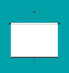 Flat empty projection screen vector
