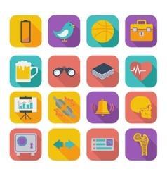 Flat icons for Web Design set 2 vector image