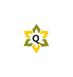 Flower infinity letter q vector