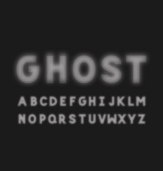 ghost bold font alphabet vector image